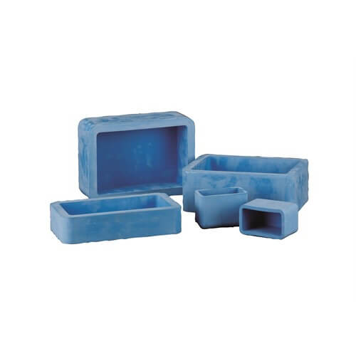EPDM Rectangle Mounting Cups 70x40x22 mm