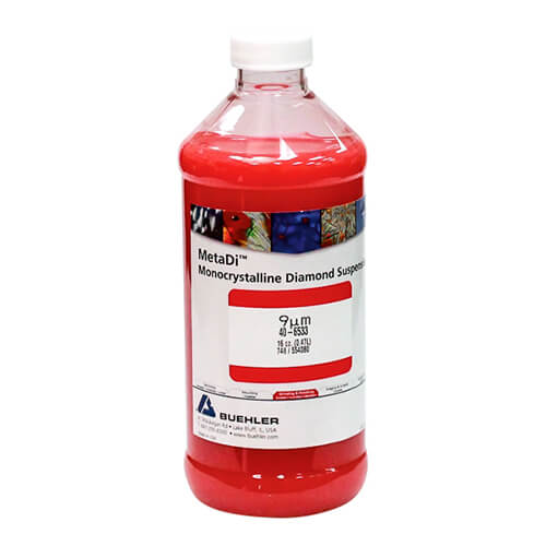 MetaDi Suspension, 9 µm, rouge; 470 ml